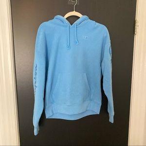 Champion Reverse Weave Hoodie, Blue, size L